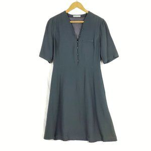 NWT Emporio Armani A-Line Button Front Shirt Dress